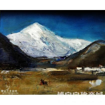 名家 张国卫 油画;水彩; - 张国卫 走进西藏 类别: 风景油画
